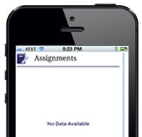 teacher app Assignments
